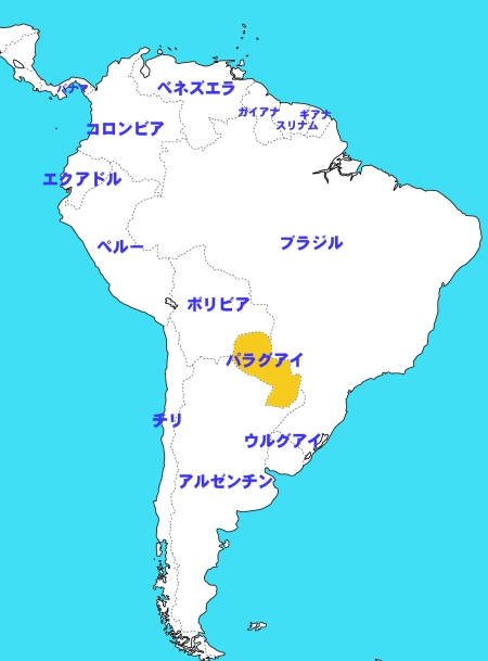 MAP OF SOUTHAMERICA